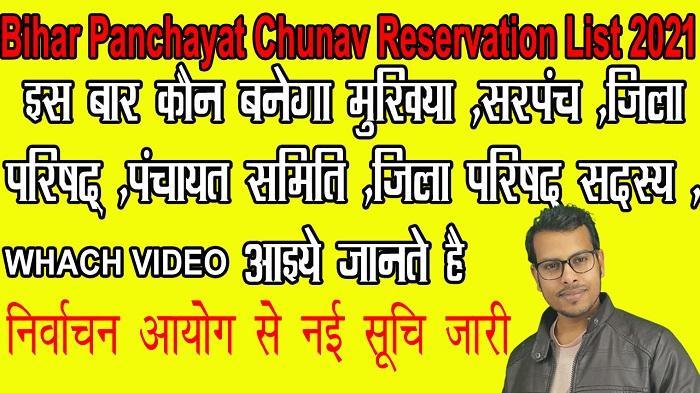 Bihar Panchayat Chunav Reservation List 2021