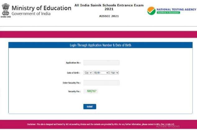 Answer key for Sainik School Entrance Exam 2021