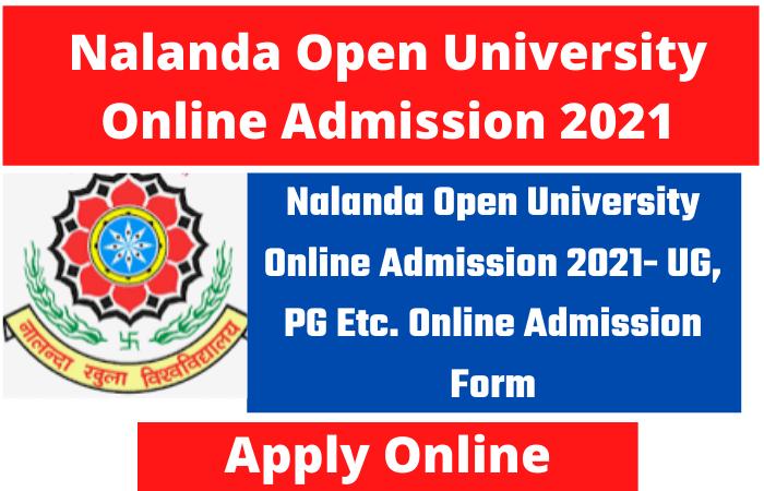 Nalanda Open University Online Admission 2021