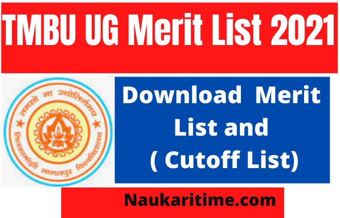 TMBU UG 3rd Merit List