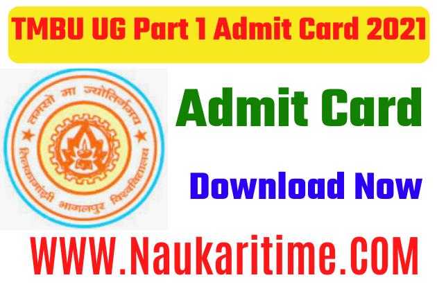 TMBU UG Part 1 Admit Card 2021
